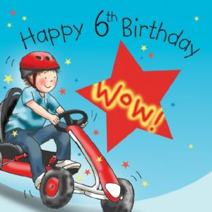 TW648 - Age 6 Birthday Card Boys